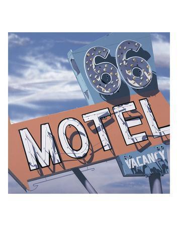 66 Motel-Anthony Ross-Framed Art Print