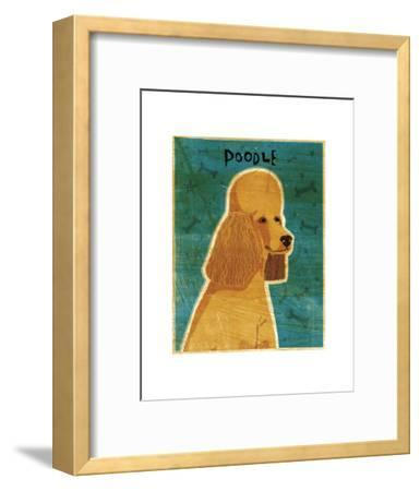 Apricot Poodle-John W^ Golden-Framed Art Print