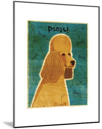 Apricot Poodle-John W^ Golden-Mounted Art Print