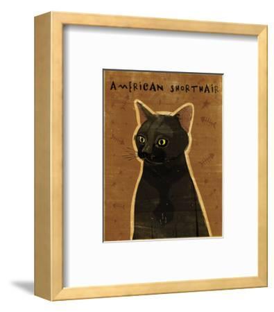 American Shorthair-John W^ Golden-Framed Art Print