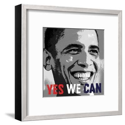 Barack Obama: Yes We Can-Celebrity Photography-Framed Art Print