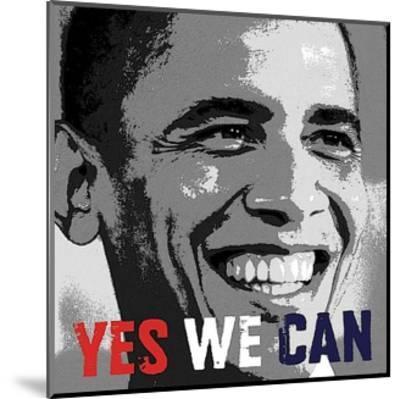 Barack Obama: Yes We Can-Celebrity Photography-Mounted Art Print
