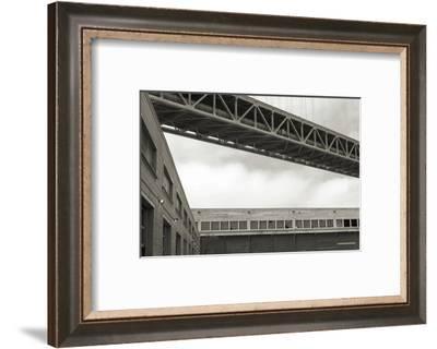 Bay Bridge and Pier #2-Christian Peacock-Framed Art Print