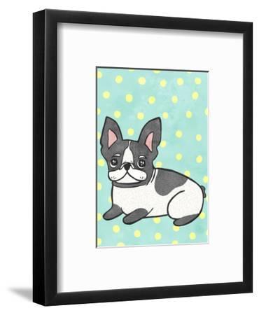 Boston Terrier-My Zoetrope-Framed Art Print