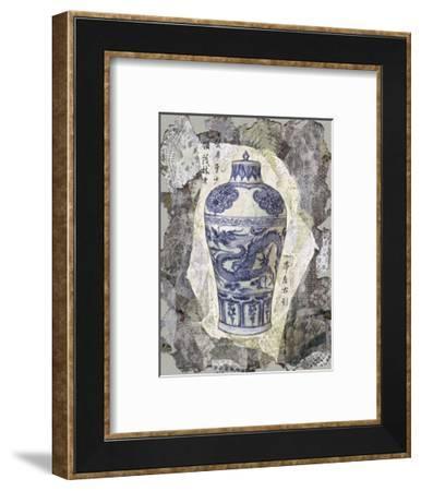 Blue Dragon Vase-Annabel Hewitt-Framed Art Print