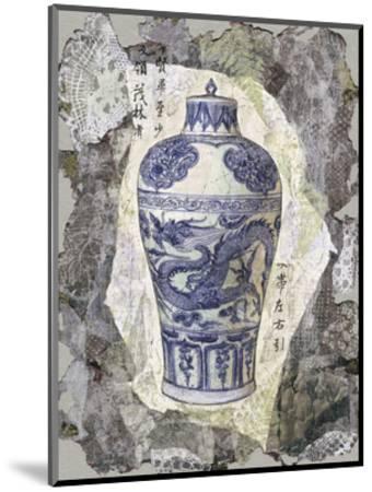 Blue Dragon Vase-Annabel Hewitt-Mounted Art Print