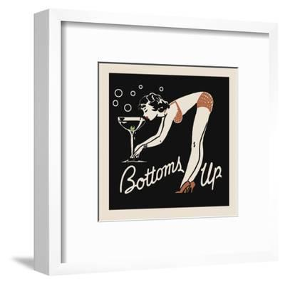 Bottoms Up-Retro Series-Framed Art Print