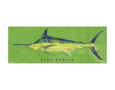 Blue Marlin-John W^ Golden-Art Print