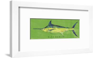 Blue Marlin-John W^ Golden-Framed Art Print