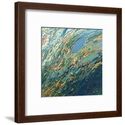Blue Ocean Sunset-Margaret Juul-Framed Art Print