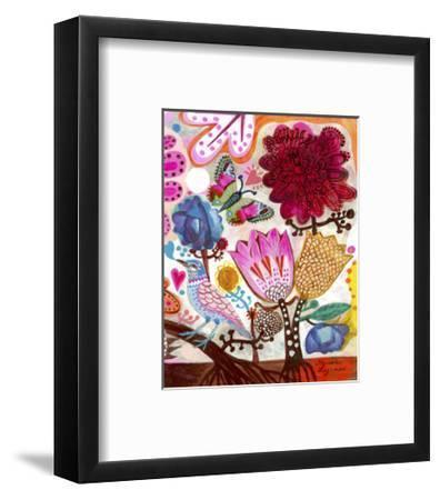 Blue Bird-Marion Mcconaghie-Framed Art Print