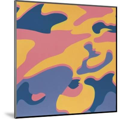 Camouflage, 1987 (pink, purple, orange)-Andy Warhol-Mounted Art Print