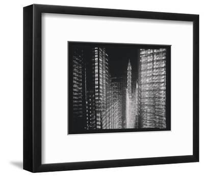 Chrysler Building Motion Landscape #4-Len Prince-Framed Art Print