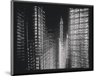 Chrysler Building Motion Landscape #4-Len Prince-Mounted Art Print