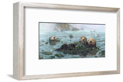 Carmel Coast Otters-John Dawson-Framed Art Print