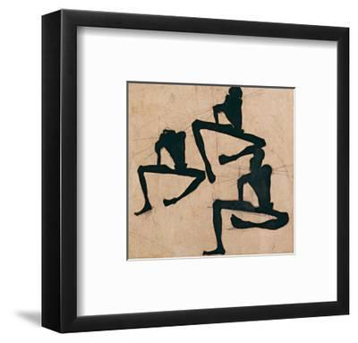Composition with Three Male Nudes-Egon Schiele-Framed Art Print