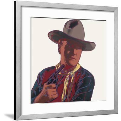 Cowboys & Indians: John Wayne, 1986-Andy Warhol-Framed Art Print