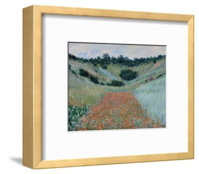Poppy Field in a Hollow Near Giverny, 1885-Claude Monet-Framed Art Print