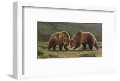 Push and Shove-Bonnie Marris-Framed Art Print