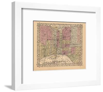 Plan of Philadelphia, 1867-Ward Maps-Framed Art Print