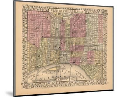 Plan of Philadelphia, 1867-Ward Maps-Mounted Art Print