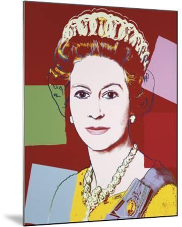 Reigning Queens: Queen Elizabeth II of the United Kingdom, 1985 (dark outline)-Andy Warhol-Mounted Art Print