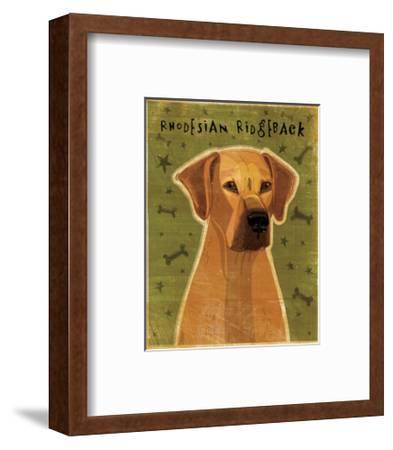 Rhodesian Ridgeback-John W^ Golden-Framed Art Print