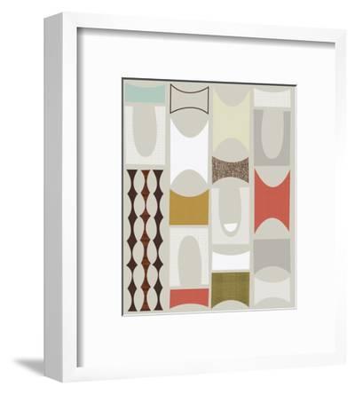 Road Blocks A-Jenn Ski-Framed Art Print