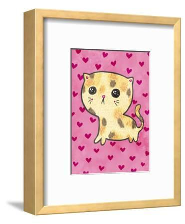 Sad Cat-My Zoetrope-Framed Art Print