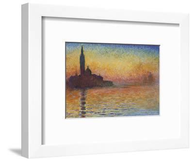 San Giorgio Maggiore At Dusk 1908 Claude Monet Framed Art Print
