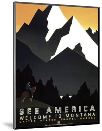 See America - Welcome to Montana II-Vintage Reproduction-Mounted Art Print