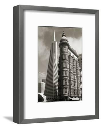 San Francisco Iconic Buildings-Christian Peacock-Framed Art Print