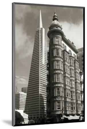 San Francisco Iconic Buildings-Christian Peacock-Mounted Art Print