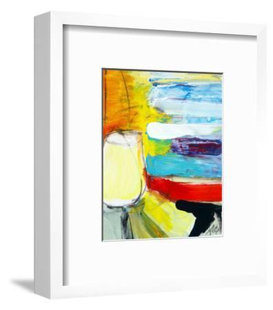 Small Pot by the Painted Sea-Joan Davis-Framed Art Print