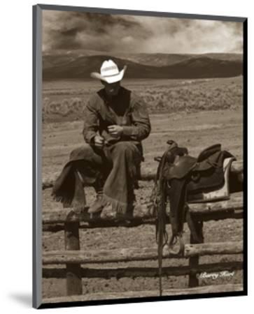 Smokin' Cowboy-Barry Hart-Mounted Art Print