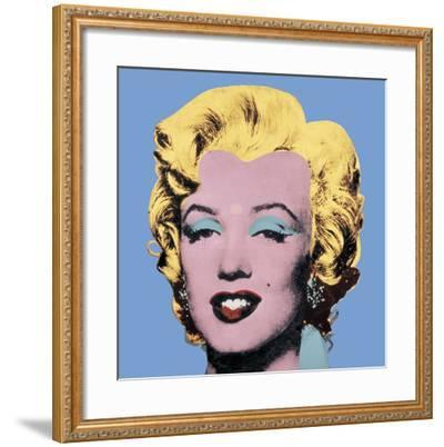 Shot Light Blue Marilyn, 1964-Andy Warhol-Framed Art Print