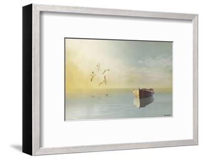Soft Sunrise on the Beach 11-Carlos Casamayor-Framed Art Print