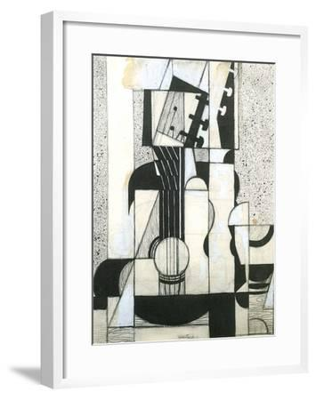 Still Life with Guitar-Juan Gris-Framed Art Print