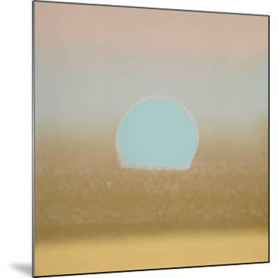 Sunset, 1972 (gold, blue)-Andy Warhol-Mounted Art Print