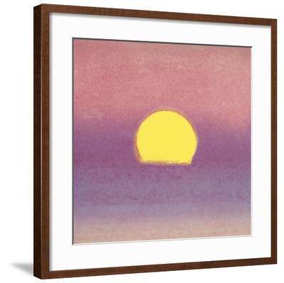Sunset, 1972 (lavender)-Andy Warhol-Framed Art Print