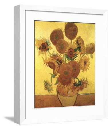 Sunflowers on Gold, 1888-Vincent van Gogh-Framed Art Print
