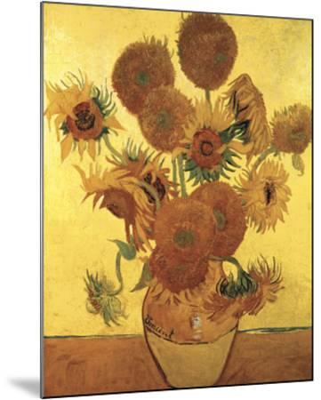 Sunflowers on Gold, 1888-Vincent van Gogh-Mounted Art Print