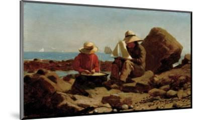 The Boat Builders, 1873-Winslow Homer-Mounted Art Print