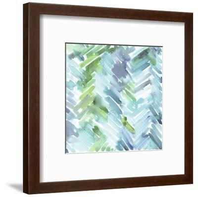Teal Mountain-Stacey Wolf-Framed Art Print