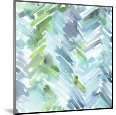 Teal Mountain-Stacey Wolf-Mounted Art Print