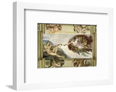 The Creation of Adam (Full)-Michelangelo-Framed Art Print