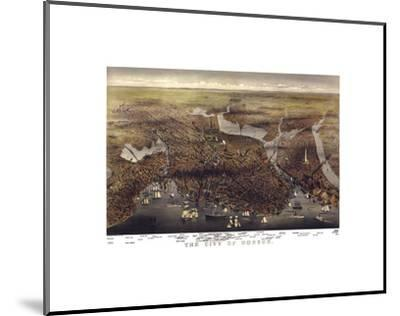 The City of Boston, Massachusetts, 1873-Parsons and Atwater-Mounted Art Print