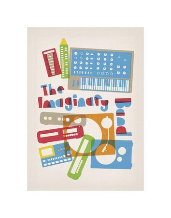The Imaginary Band-Anthony Peters-Framed Art Print