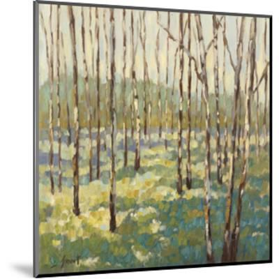 Trees in Blue Green-Libby Smart-Mounted Art Print