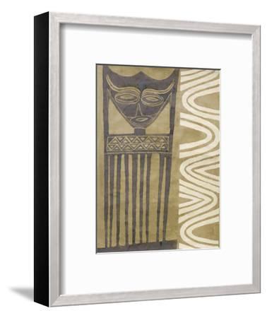 Tribal Mask-Dominique Gaudin-Framed Art Print